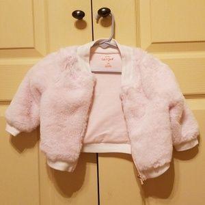Cat&Jack Pink faux fur baby jacket